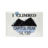 I Climbed Capitol Peak Rectangle Magnet