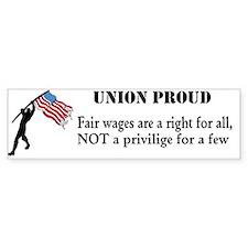fair wages Bumper Bumper Sticker