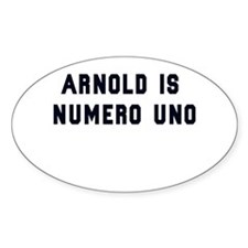 Arnold is Numero Uno Decal