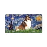 Starry-Shetland Sheepdog 7 Aluminum License Plate