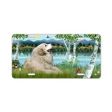 Briches / Grey Pyrenees Aluminum License Plate