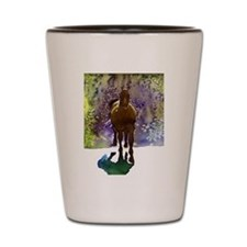 Equine in Watercolor Shot Glass