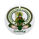 Grady Clan Motto Ornament (Round)