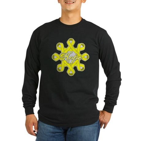 Bladder Cancer Hope Unity Long Sleeve Dark T-Shirt