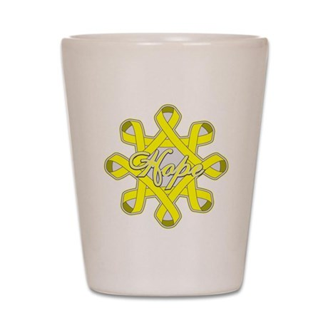 Bladder Cancer Hope Unity Shot Glass