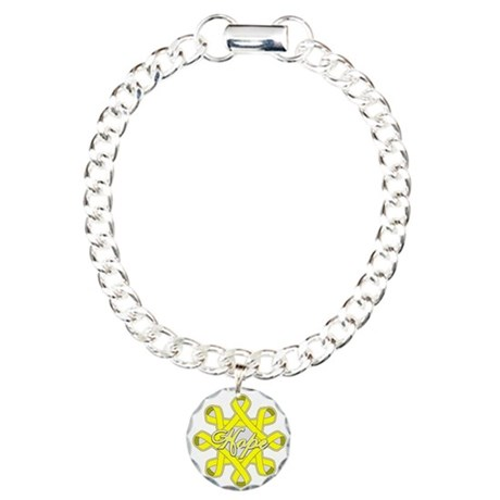 Bladder Cancer Hope Unity Charm Bracelet, One Char