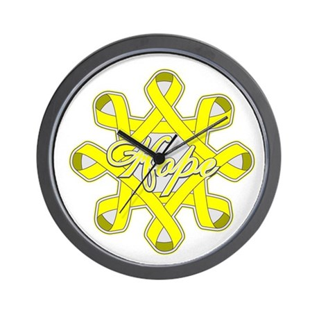 Bladder Cancer Hope Unity Wall Clock