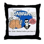 SPEEDY BRAINWASH Throw Pillow