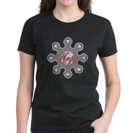 Brain Cancer Hope Unity Women's Dark T-Shirt