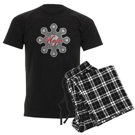 Brain Cancer Hope Unity Men's Dark Pajamas