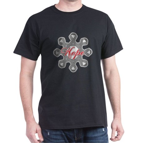 Brain Cancer Hope Unity Dark T-Shirt