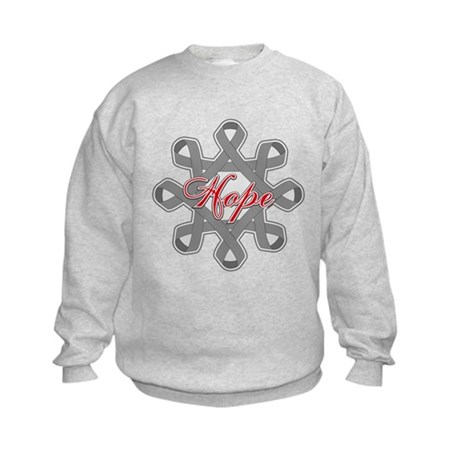Brain Cancer Hope Unity Kids Sweatshirt