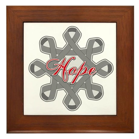 Brain Cancer Hope Unity Framed Tile