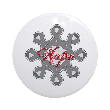 Brain Cancer Hope Unity Ornament (Round)