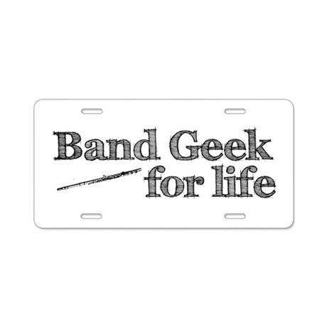 Flute Band Geek Aluminum License Plate