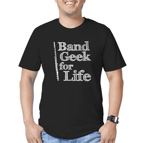 Flute Band Geek Men's Fitted T-Shirt (dark)