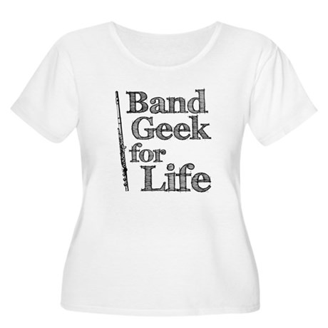 Flute Band Geek Women's Plus Size Scoop Neck T-Shi