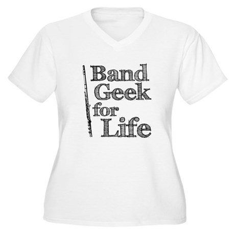 Flute Band Geek Women's Plus Size V-Neck T-Shirt
