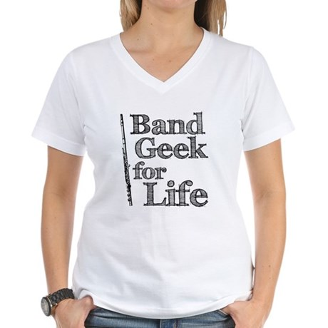Flute Band Geek Women's V-Neck T-Shirt