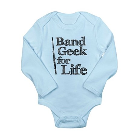 Flute Band Geek Long Sleeve Infant Bodysuit