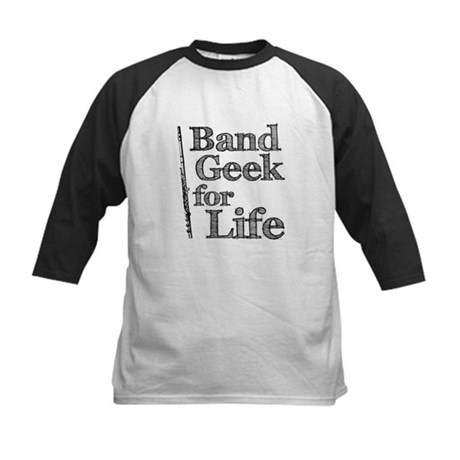 Flute Band Geek Kids Baseball Jersey