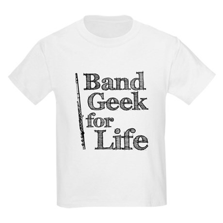 Flute Band Geek Kids Light T-Shirt
