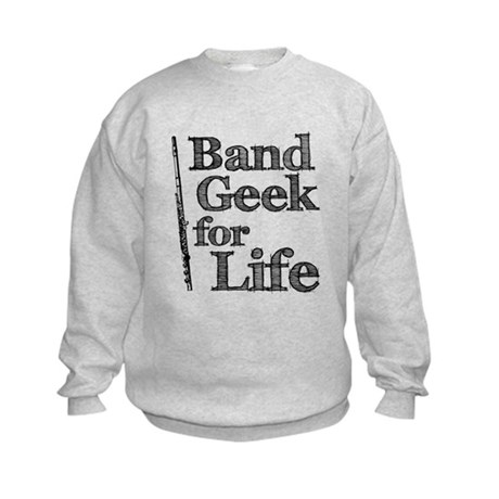 Flute Band Geek Kids Sweatshirt