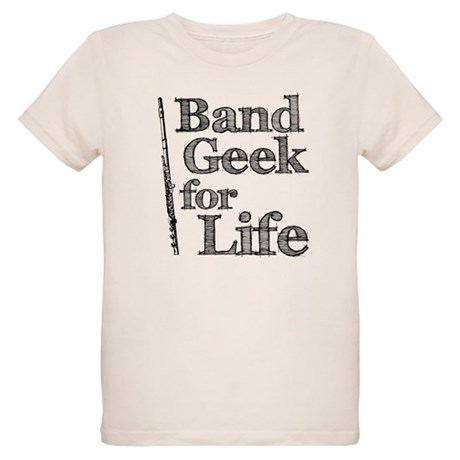 Flute Band Geek Organic Kids T-Shirt