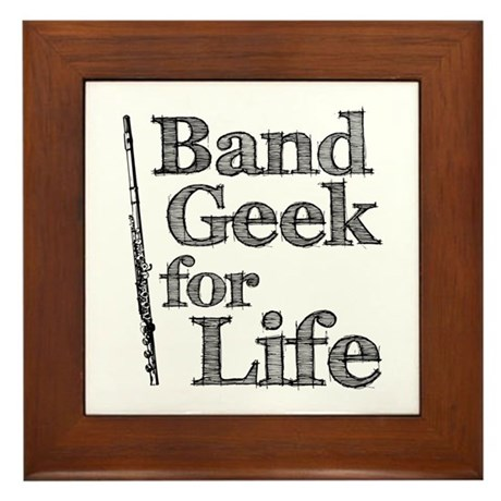 Flute Band Geek Framed Tile