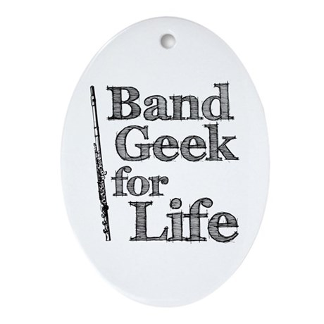 Flute Band Geek Ornament (Oval)