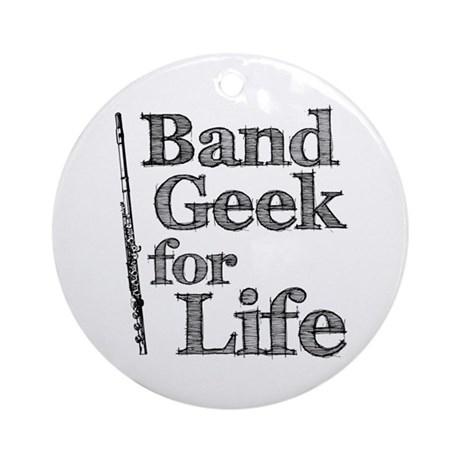Flute Band Geek Ornament (Round)