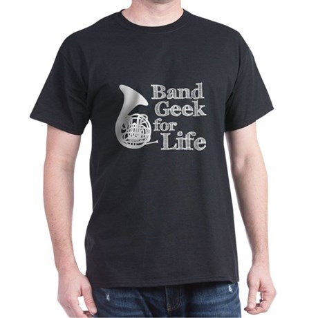 French Horn Band Geek Dark T-Shirt