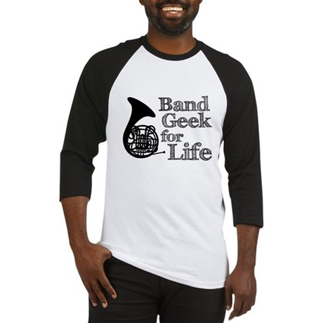 French Horn Band Geek Baseball Jersey