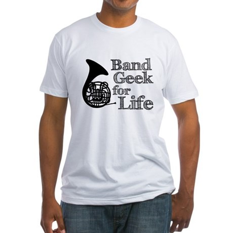 French Horn Band Geek Fitted T-Shirt
