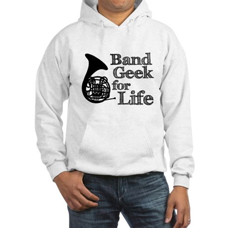 French Horn Band Geek Hooded Sweatshirt