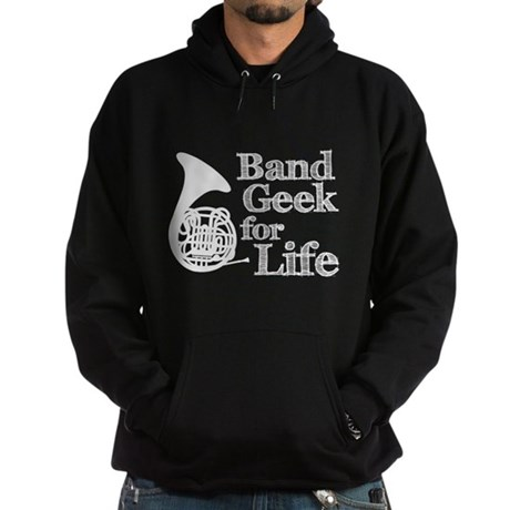 French Horn Band Geek Hoodie (dark)