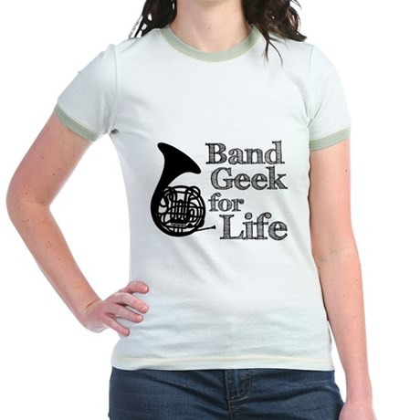 French Horn Band Geek Jr. Ringer T-Shirt