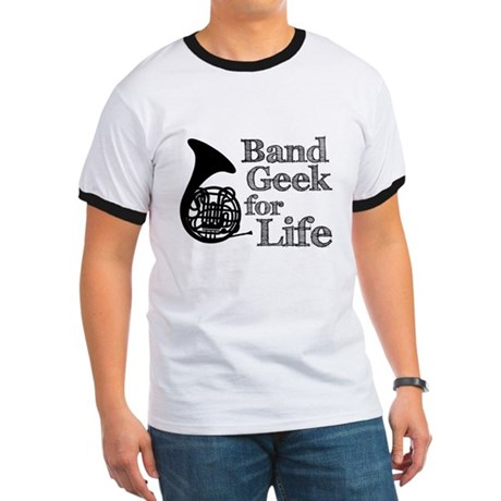 French Horn Band Geek Ringer T