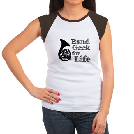 French Horn Band Geek Women's Cap Sleeve T-Shirt