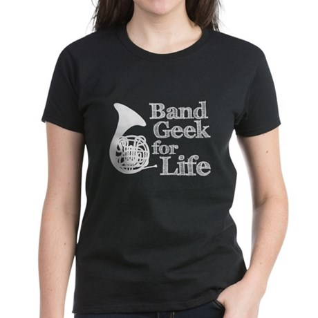 French Horn Band Geek Women's Dark T-Shirt