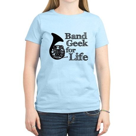 French Horn Band Geek Women's Light T-Shirt