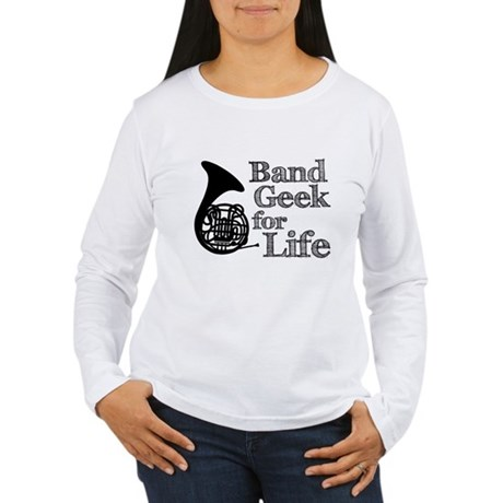 French Horn Band Geek Women's Long Sleeve T-Shirt
