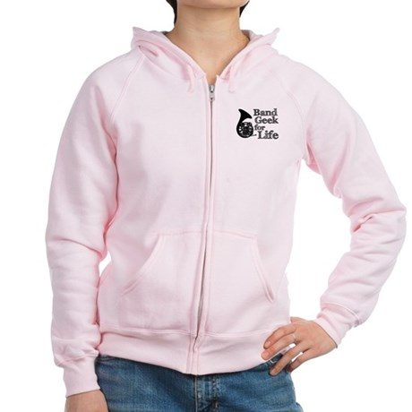 French Horn Band Geek Women's Zip Hoodie