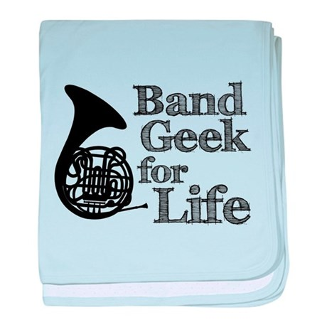 French Horn Band Geek baby blanket