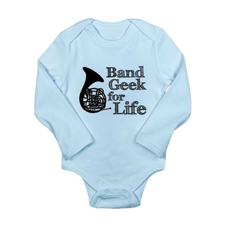 French Horn Band Geek Long Sleeve Infant Bodysuit