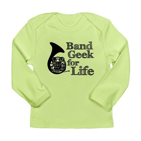 French Horn Band Geek Long Sleeve Infant T-Shirt