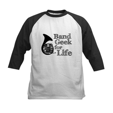 French Horn Band Geek Kids Baseball Jersey