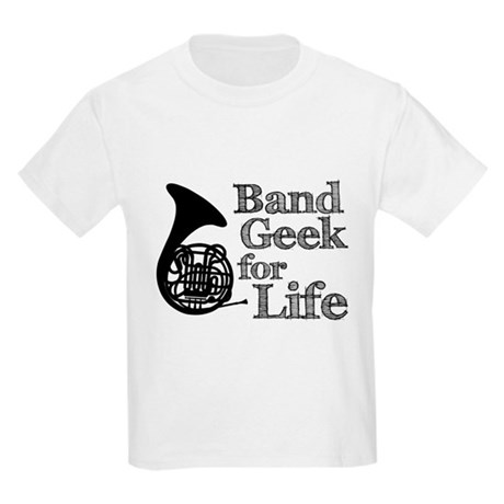French Horn Band Geek Kids Light T-Shirt