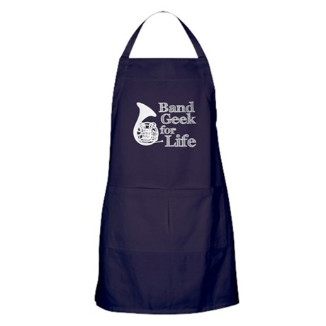 French Horn Band Geek Apron (dark)