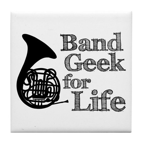 French Horn Band Geek Tile Coaster